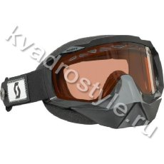 снегоходные очки scott hustle snowcross strap system black (355-6350)