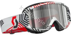 Кроссовые off-road очки scott 89 si pro maze white chrome lens (355-6504)